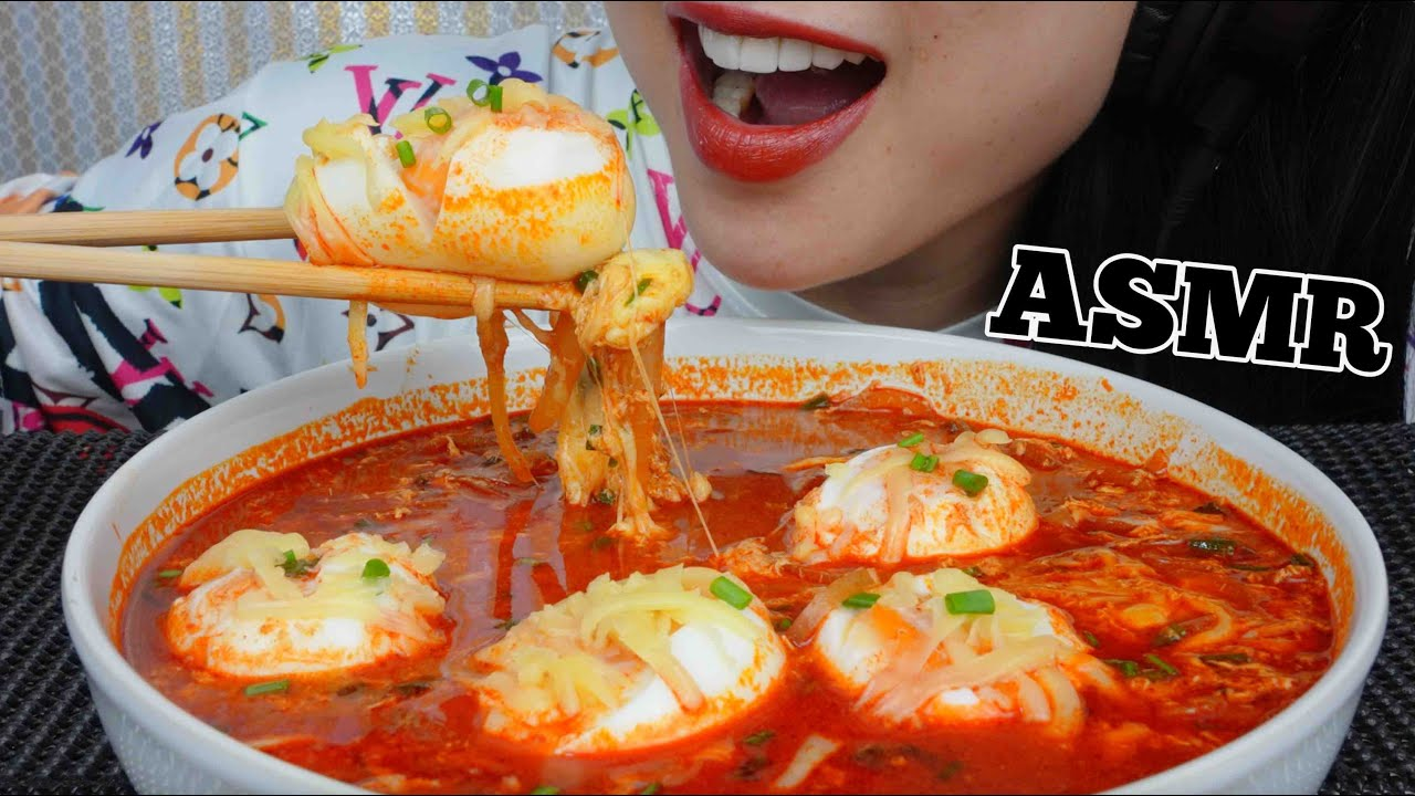 cheesy soft boil eggs soft crunchy eating sounds not talking sas asmr afh45l55PYQ